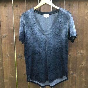 Terre Jacobs M/L Velvet Soft V Neck Ombré T-Shirt